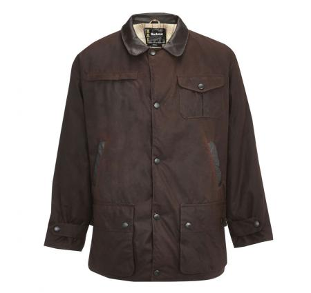 Barbour Bushman Oiled Cotton Jacket In Rustic Brown At Cox