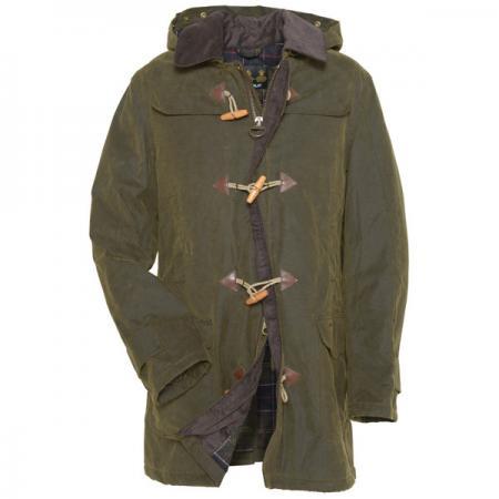 Barbour Kinneff Waxed Duffle Coat