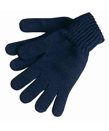 Barbour Lambswool Gloves navy shown