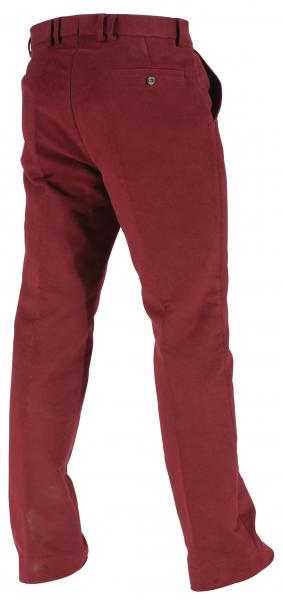 Barbour Traditional Country Moleskin Trousers oxblood shown