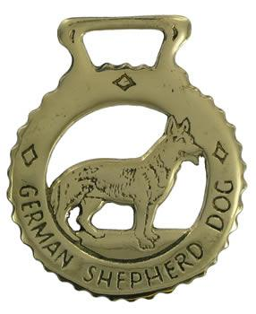 German Shepherd Horse Brass