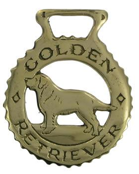 Golden Retriever Horse Brass