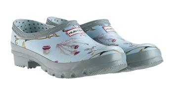 Hunter RHS Gardening Clog Thistle and Forget Me Not design