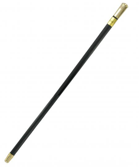 Leather Covered Show Cane with Gold Plated Cap WHC12G