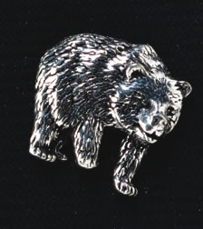 pewter bear badge