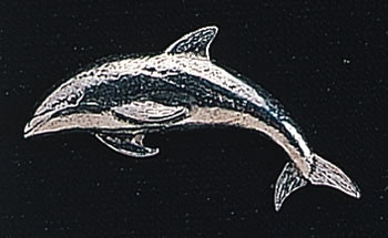 pewter dolphin badge
