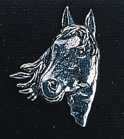 pewter horse s head badge