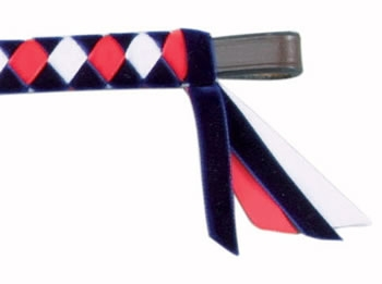 velvet browband in colours mbbv