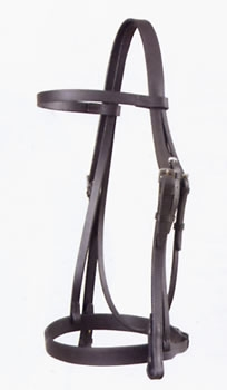 wembley snaffle bridle with cavesson and rubber gr