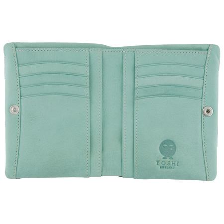 This small leather wallet purse measures 12.5cm x 10cm x 3cm. It has a