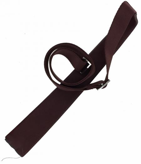 Across Body Webbing and Leather Shoulder Strap FINST008 rust brown