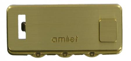 Amiet Surface Mounted Brass 3 Dial Combination Briefcase Lock OH1377BR