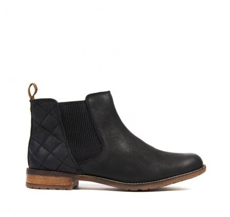 Barbour Abigail Boot in black leather