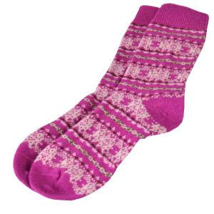 Barbour Beckley Fairisle Sock for Ladies in juniper