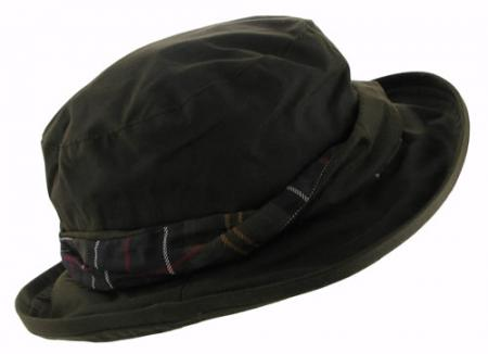 Barbour Beckley Ladies Tartan Waxed Cotton Hat LHA0180OL11 olive/ classic tartan