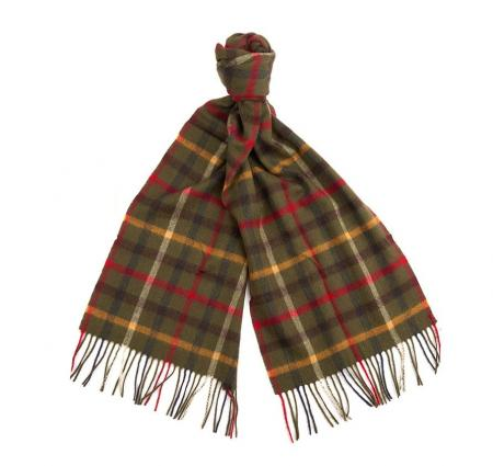 Barbour Bolt Tattersall Lambswool Scarf