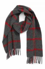 Barbour Bradford Tattersall Lambswool Scarf USC0263