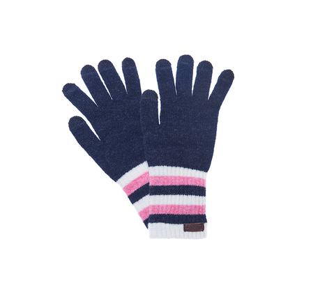 Barbour Briggs Knitted Striped Gloves for Ladies LGL0041