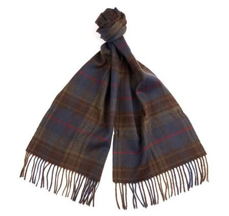 Barbour Brignall Lambswool Scarf in olive USC0119GN911