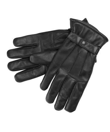 Barbour Burnished Leather Insulated Gloves black