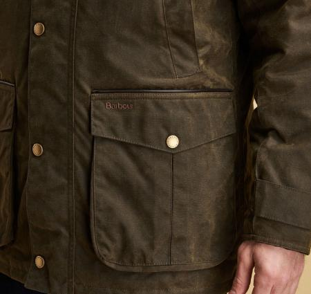 Barbour Cole Wax Jacket in olive green MWX1367OL51