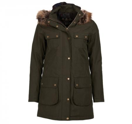 Barbour Collingwood Parka Style Jacket In olive LWB0564