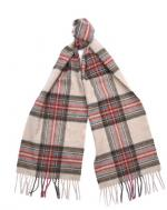 Barbour Country Check Scarf in cream