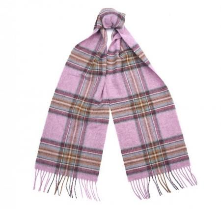 Barbour Country Check Scarf in pink