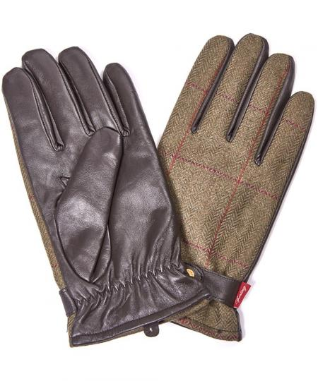 Barbour Country Tweed Gloves MGL0044GN52