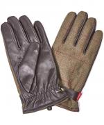 Barbour Country Tweed Gloves in green
