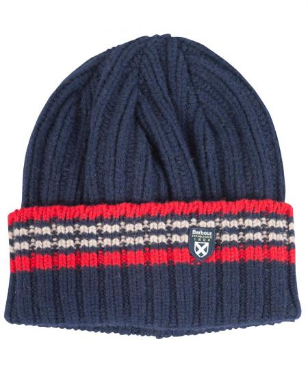 Barbour Crathes Knitted Ribbed Hat for Men MHA0209NY71 Navy