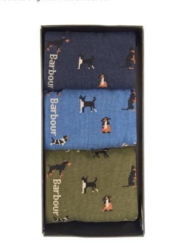 Barbour Dog Motif Sock gift pack
