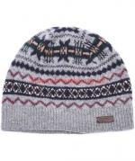 Barbour Fairisle Beanie Hat for Men in grey