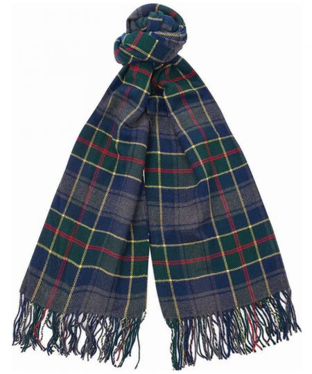 Barbour Fulmar Scarf in blue check USC0214BL311