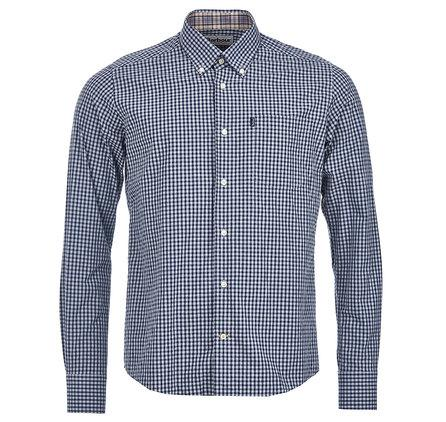 Barbour Gingham Shirt in Navy (Button Down Collar)