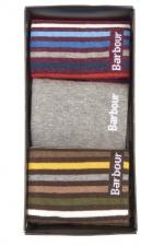 Barbour Heywood Sock 3 pairs in mixed colours