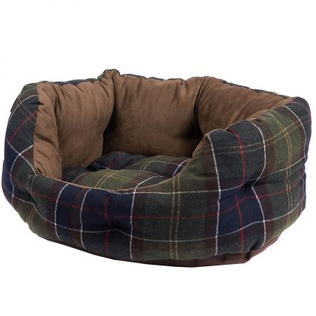 Barbour 24 inch Luxury Dog Bed in classic tartan UAC0161TN111
