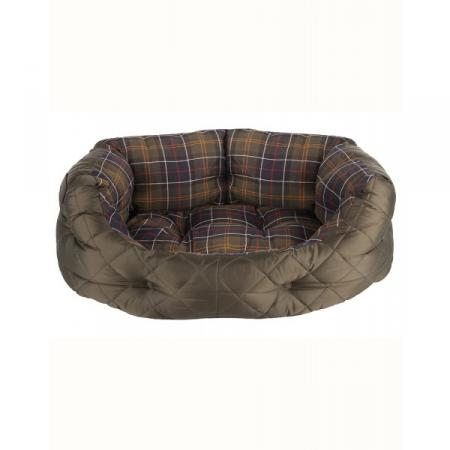 Barbour 24 inch Quilted Dog Bed in olive green