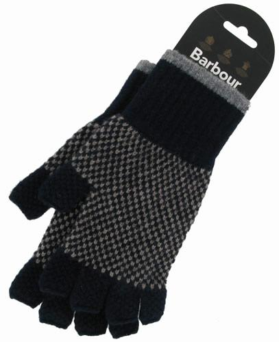 Barbour Knitted Brodie Glove for Men in Navy