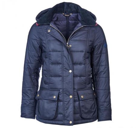 Barbour ladies Ilkley baffle quilt jacket in navy