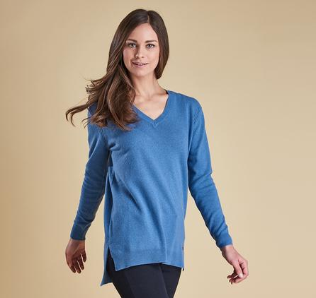 Barbour Ladies Meadowsweet V Neck Sweater LKN0655