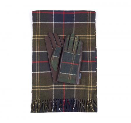 Barbour Ladies Tartan Scarf & Glove Set LGS0003