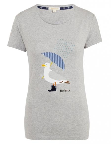 Barbour Ladies Umbrella Seagull Tee LTS0114GY31