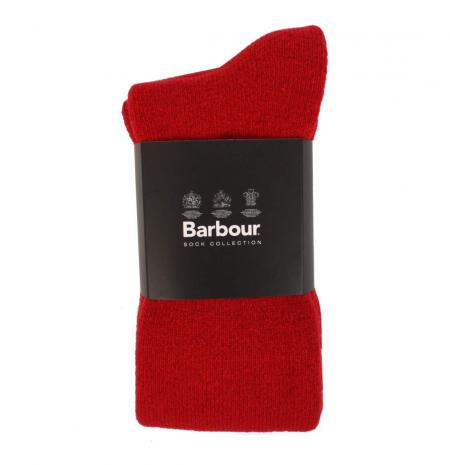 Barbour Ladies Wellington Boot Sock in cranberry red