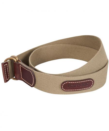 Barbour Leather and Webbing Belt in Camel