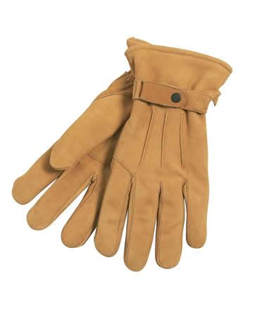 Barbour Leather Thinsulate Gloves tan shown