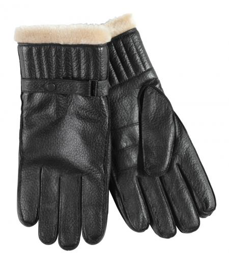 Barbour Leather Utility Gloves black shown