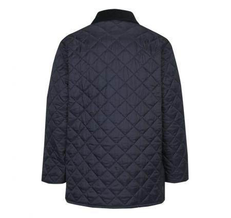 Barbour Liddesdale Jacket in Navy with Atlantic Blue Lining MQU0001NY92