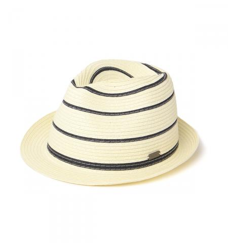 Barbour Machar Trilby Hat for Men in natural and navy stripe
