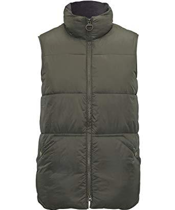 Barbour Mens Hermitage Body Warmer in olive green MQU0488OL51